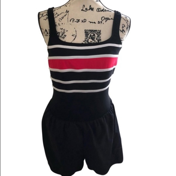 300ef313cb741 Vintage swimsuit romper one piece bathing suit M. M_5adf2fd08290af83f9a9d59a